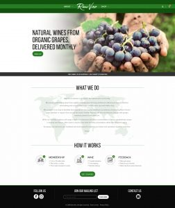 Picture of Raw Vino website