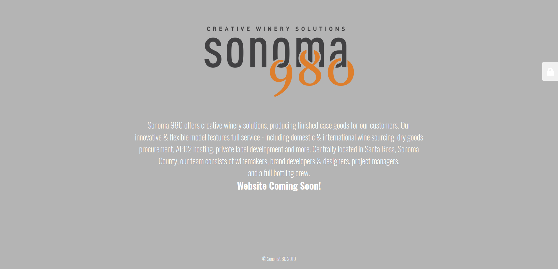 Screenshot of the Sonoma980 website